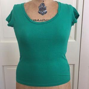 Forever 21 Green T Shirt